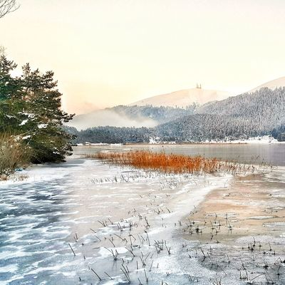 Abant lake in Bolu,Turkey. Lake Freezing Cold Frozenlake Abantlake Abant Wintertime Winter Cold Cold Weather Extreme Weather Snowy Snowy Mountains Abantgölü Abant Lake Outside Exterior Blizzard Minusdegrees Turkey Destination Popular Mountain Nature No People Outdoors Day Water
