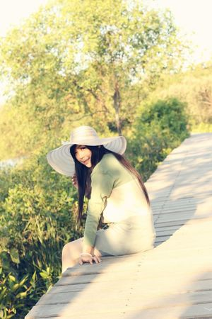 Only Women One Woman Only One Person Women Sunlight Nature Sun Hat One Young Woman Only Mangrove Area Photoshoot Photography Clearsky Story Photography Mangroveforest Mystories Story Behind The Picture Eyeemphotography Casual Clothing Photosession Softlight  Long Hair Beauty Summer Outdoors Day Photography