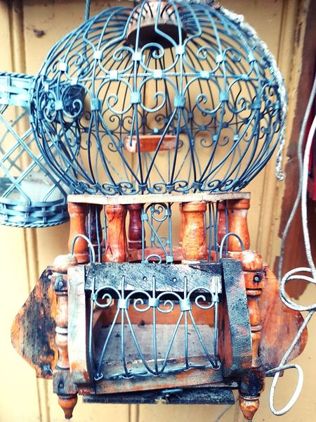 Once the bird has flown.. EyeEmSelect Birdcage Backyard Cage Once The Bird Has Flown Steel And Wood Steel Cage Day Indoors  Old-fashioned No People Close-up Clock
