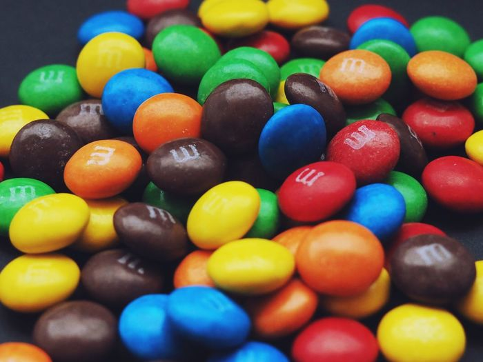 Close-up of colorful candies