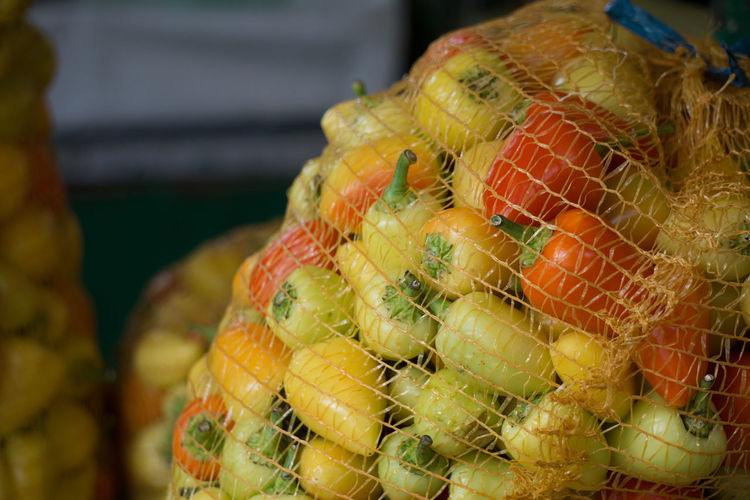 Close-up of fruits in market