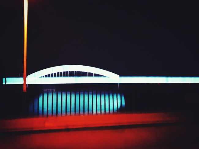 #bridge #blurry #river #nightlight #night #dreamy #blue #illuminating Architecture Built Structure