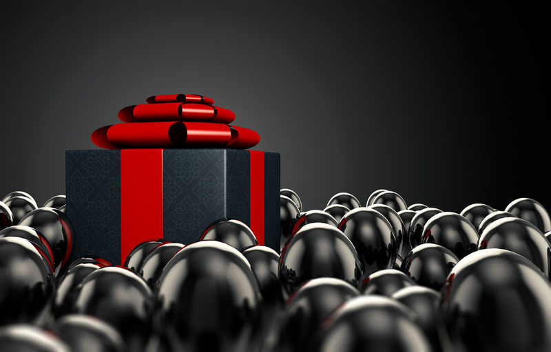 Close-up of objects over black background