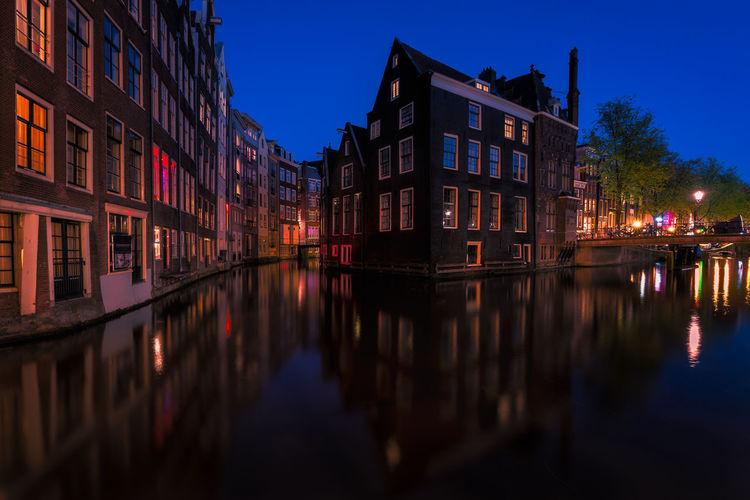 Amsterdam Canal EyeEm Best Shots EyeEm Selects EyeEm Gallery EyeEmNewHere Reflection Remo SCarfo Blue Hour Cityscape Dutch Eye4photography  Holland