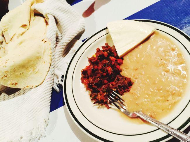 Cena Sinaloense: Machaca, frijoles y tortillas. Comidasinaloense Gastronomía Sinaloafood Ismaelarcephotogallery