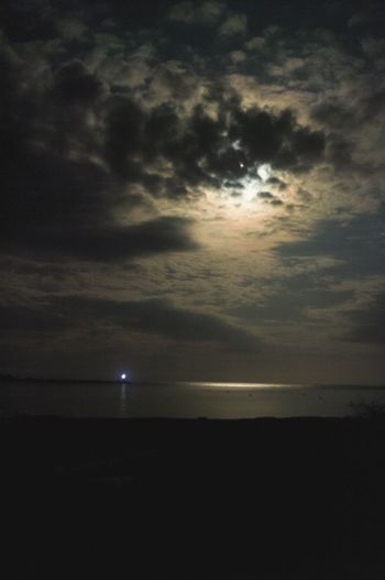 lighthouse by moonlight, Jura, Scotland . Tranquil Scene Scenics Silhouette Water Sea Sky Horizon Over Water Jura Scottish Highlands Non-urban Scene Lighthouse Lighthouse_captures Moonlight
