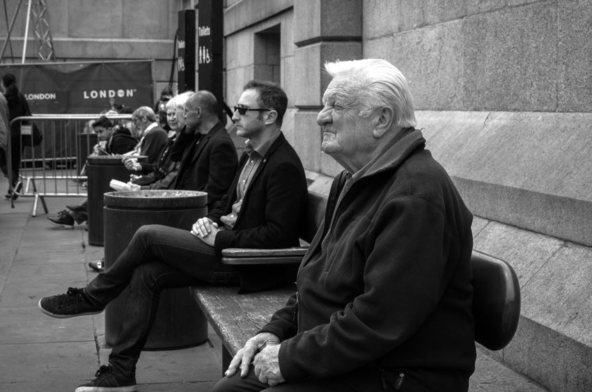 Black & White Blackandwhite Blackandwhite Photography Casual Clothing Leica Leicaxvario London Maxgor Maxgor.com Monochromatic Monochrome Person Real People Sitting Street Photography Streetphoto_bw