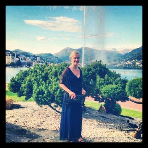 Offiziersbau Lugano See Sunne