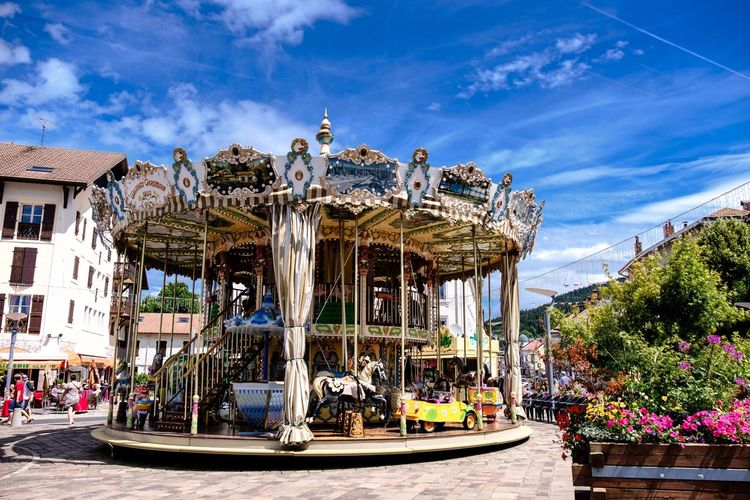 Fair Carousel Summer City France Eye4photography  City View  City Life Cityscapes Cute Child Children Childhood My Favorite Picture  Hollidays