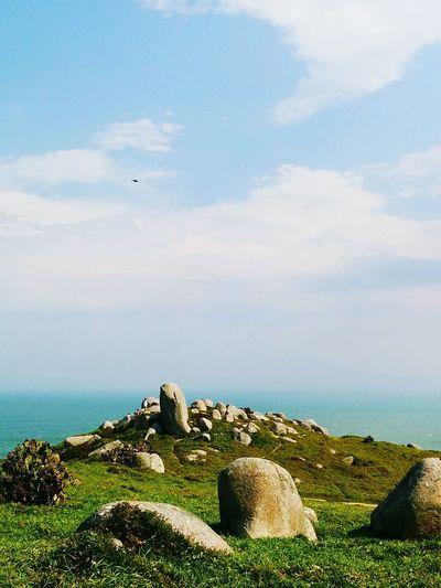 Sea And Sky Seascape Rocks Blue Sky Peace And Quiet Peaceful