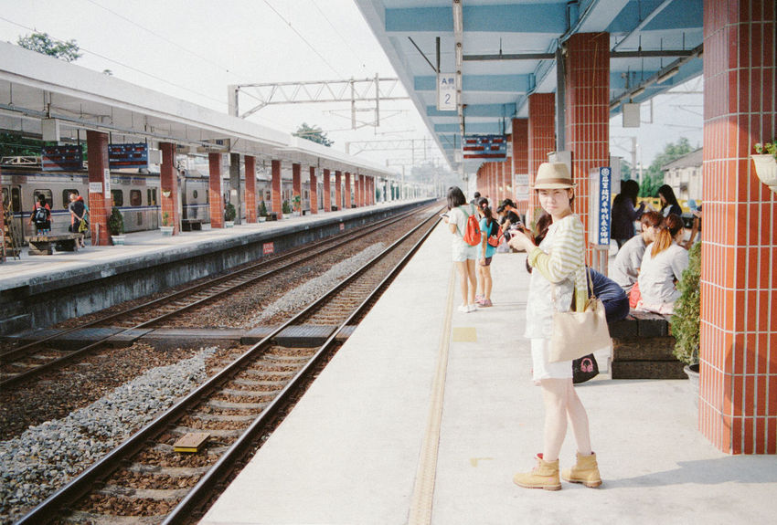 Diminishing Perspective Enjoying Life EyeEm EyeEm Gallery Film Film Photography Filmisnotdead Fm2 Kodak Kodak Portra Portra400 Public Transportation Railroad Track Station Taichung Taiwan Train