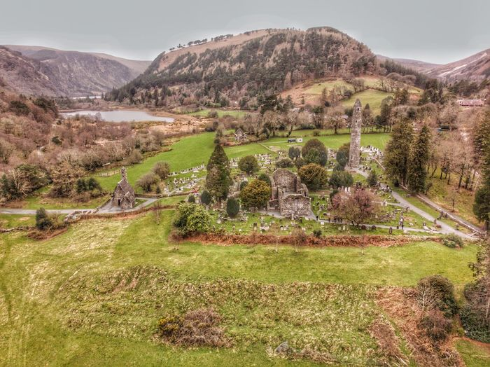 Monastic City at Glendalough, Ireland 🇮🇪 2019 Ancient DJI Mavic Air DJI X Eyeem Drone Photograph Plant Environment Landscape Scenics - Nature Beauty In Nature Growth Tranquility Land Field Agriculture Green Color Tree Sky Rural Scene Grass Nature Day No People Tranquil Scene Mountain