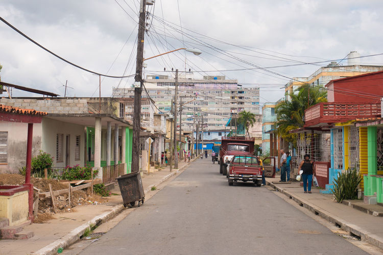 Cuba Pinar Del Rio Architecture Building Exterior Built Structure Cable Carribean City Cloud - Sky Day Land Vehicle Mode Of Transport Outdoors Road Sky Street The Way Forward Transportation