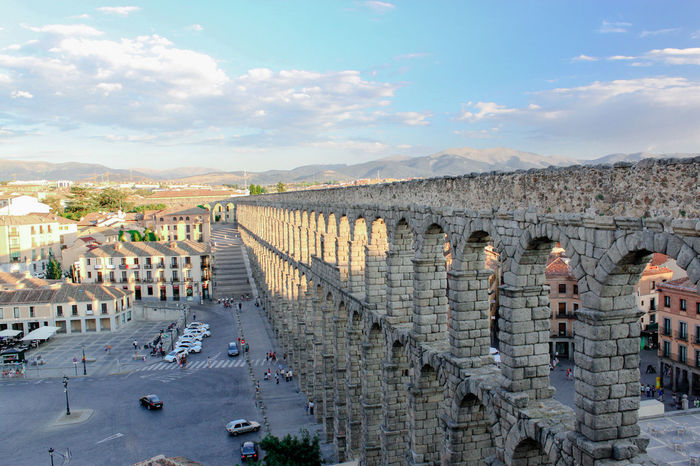 Nice Acueducto Acueducto-Segovia Aqueduc Aqueduct Architecture Built Structure City Cityscape Cityscape Cloud - Sky Engineering High Angle View Mountain Range Roman Building Segovia SPAIN Water