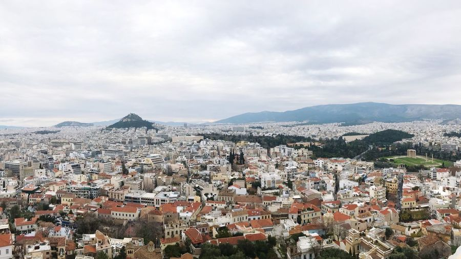 View From Akropolis Athens, Greece Cloud - Sky Sky Architecture Mountain Built Structure Building Exterior City