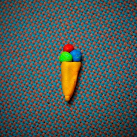 Blue Childlike Copyspace Directly Above Handmade Ice Balls Ice Cream Ice Cream Cone Ice Waffle Knead Multi Colored No People Studio Shot Sugar Sweet Sweet Food Sweets Symbol