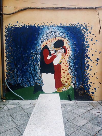 Kiss Mural Art