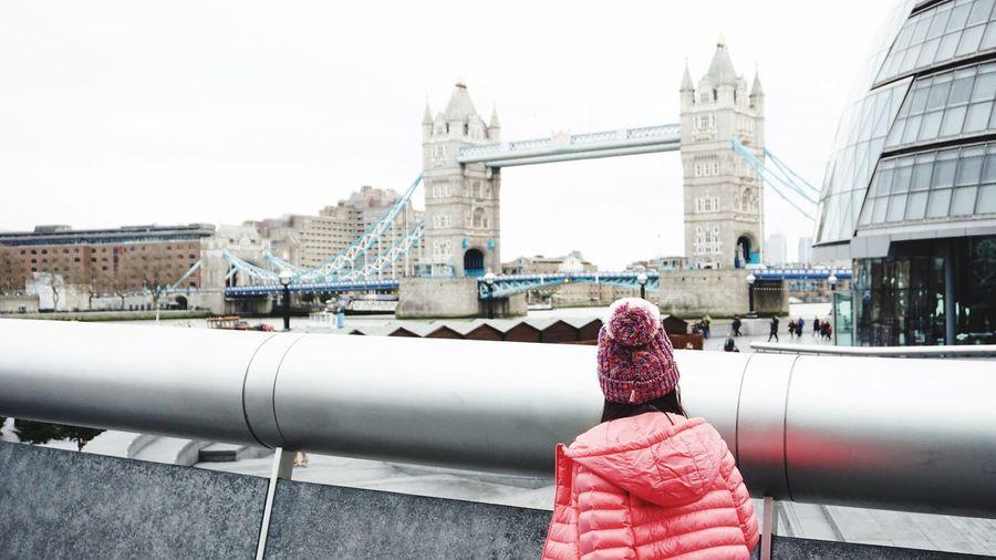 View ofa woman and london bridge