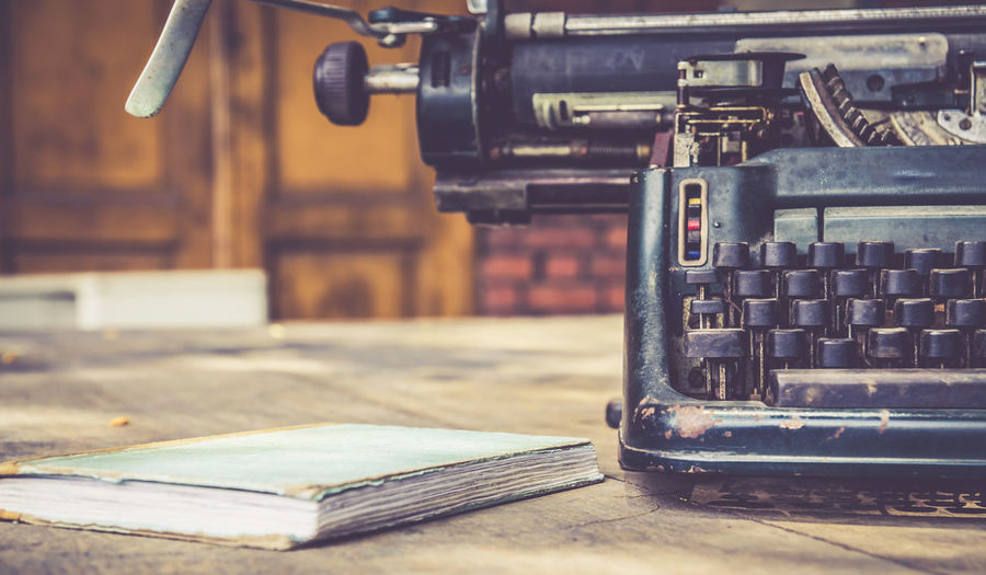 Close-up Day Editer Indoors  Industry Manufacturing Equipment No People Sewing Sewing Machine Technology Typewriter Writer Writing