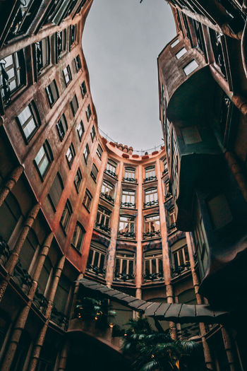 Architecture Low Angle View City Built Structure Travel Destinations Building Exterior No People Outdoors Night Sky Streetphotography City Cityscape Building Architecture Barcelona
