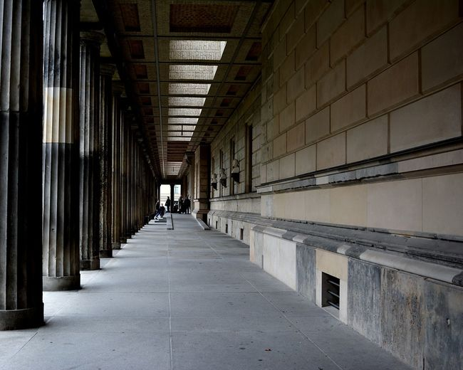 Travel Traveling Berlin Berlino Museum City Men Warehouse Corridor Architectural Column Politics And Government Architecture Built Structure Passageway Colonnade Passage Arcade Column