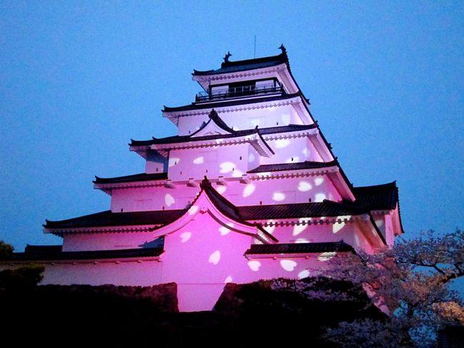 鶴ヶ城夜景