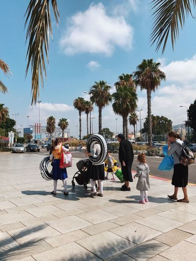 Girls day Palm Tree Sky Tree Cloud - Sky Full Length Day Real People Outdoors Childhood Lifestyles Leisure Activity Women Boys Men Togetherness Girls Standing Architecture City Shotoniphone7plus מייאייפון7 IPhone7Plus מייבתגלים מייסטריט The Week On EyeEm Connected By Travel