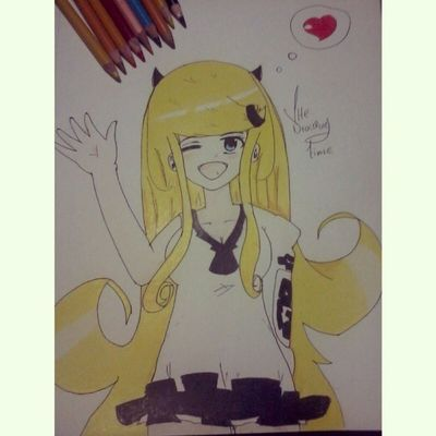 Hi this is my second creation or second character my mind and could create the step on this drawing Thedrawing Animefans Animecute Prismacolor