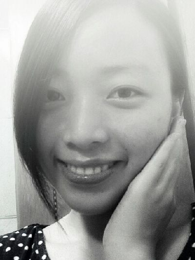 That's Me Selfile  in Black And White Chinese Girl