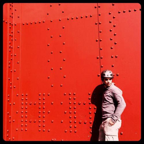 Red Golden Gate Bridge San Francisco Bicycling Last Saturday