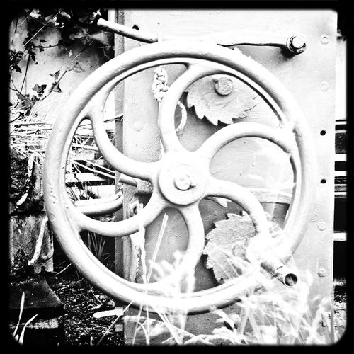 Part of an old manually operated sluice lock that was removed. Monochrome Monochrome_Monday Monochrome_Monday
