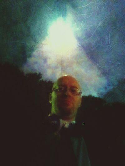 Full Moon Arty Night Phycodelic Selfie✌ Dark