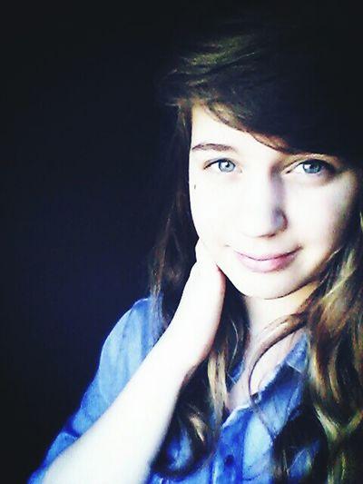 Me Young Blue Girl Hair No Make-up Picoftheday Lgl90