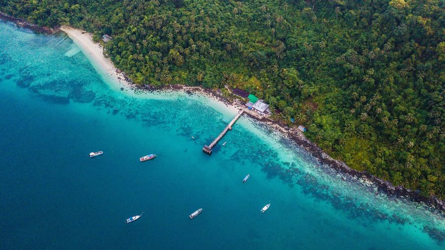 Aerial View of Tinggi Island, Mersing Johor, Malaysia Drone  Water High Angle View Nautical Vessel Aerial View Sea Scenics - Nature Nature Coastline Beach Beauty In Nature Travel Day Land Outdoors Sailboat Turquoise Colored First Eyeem Photo