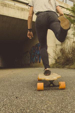 Longboard Skate Living Bold Skatergirl Lifestyle Skateboarding