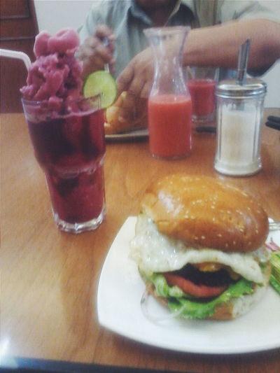 Hamburger Chicha Morada Hamburguesa Food