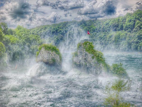 Rock Rocks And Water Water_collection Water Stones & Water Rheinfall Rhinefalls Waterfall Waterfall_collection Landscape_Collection Landscape Landscape #Nature #photography Landscape_photography Landscapes Water Falls