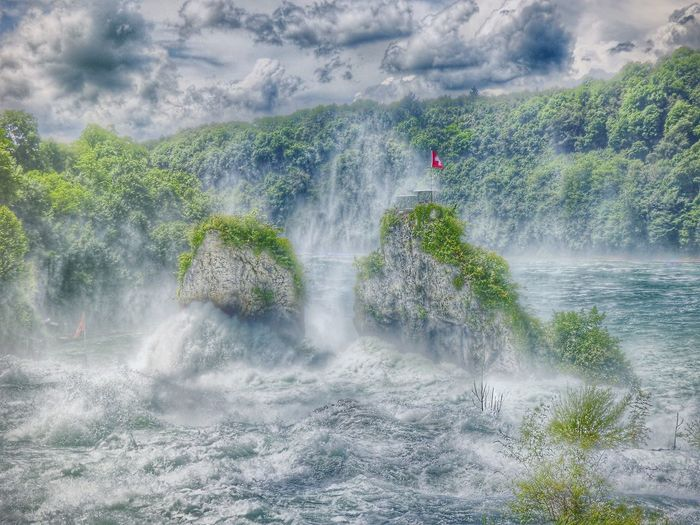 Rock Rocks And Water Water_collection Water Stones & Water Rheinfall Rhinefalls Waterfall Waterfall_collection Landscape_Collection Landscape Landscape #Nature #photography Landscape_photography Landscapes Water Falls