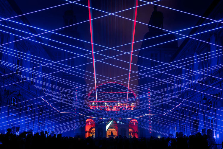 Artistic Expression Art Arts Culture And Entertainment Lyon Laser Light Lights Lightshow Lasershow Ralf Lottig Tricolore
