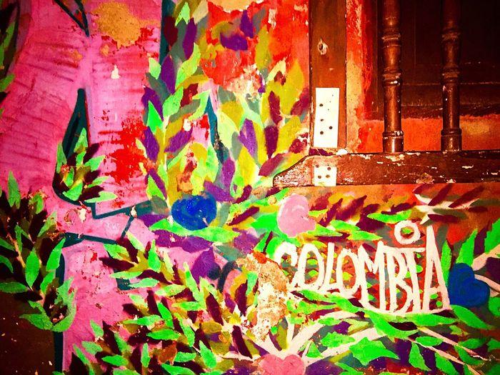Colombia Mural Graffiti Art Cartagena, Colombia Window Bars