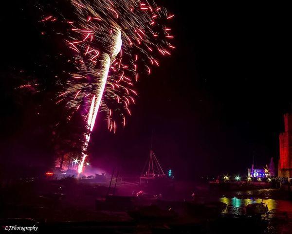 Caernarfon castle 🎇🎆 Firework Display Night Exploding Firework - Man Made Object Celebration Event Motion Illuminated Outdoors No People Firework Sky