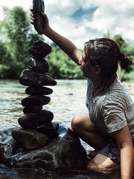 Be. Ready. Water Adult River Vacations People Summer Adults Only Outdoors Day Happiness Beauty Nature Only Women Beauty In Nature One Person Young Adult