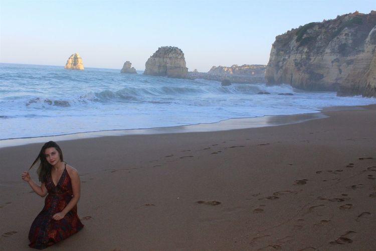Portugal Algarve Lagos Portugal Paradise Beach Me Holidays ☀ Ocean Waves Wet Sand Evening Beautiful Day Beautiful Wiew Praia Do Pinhão