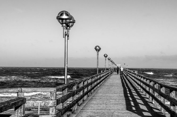stormy day Creative Space Bnw_friday_eyeemchallenge Architecture Architektur Baltic Sea Bridge Brücke Clear Sky Himmel Lang Laterne Licht Und Schatten Light And Shadow Lighting Equipment Long Ostsee Outdoors Pier Railing Schatten Seabridge Seebrücke Shadow Sky Storm Stormy Weather Sturm Breathing Space Black And White Friday The Architect - 2018 EyeEm Awards