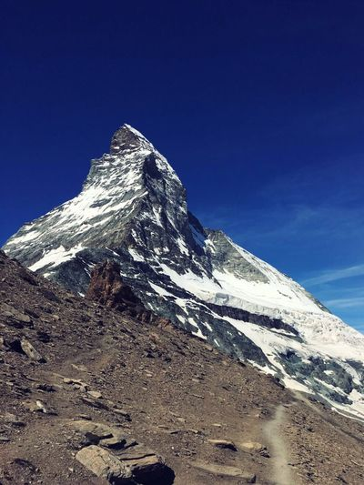 Matterhorn Mountain Snow Season  Snowcapped Mountain Majestic Landscape