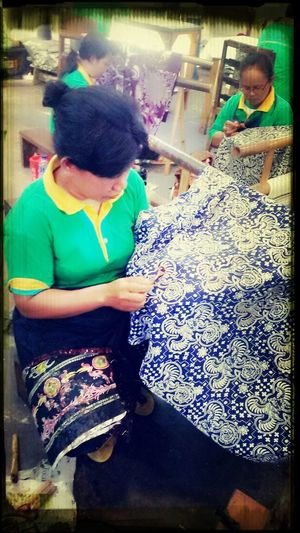 Painting #Creating Handmade Art Traditional Batik Wonderful Indonesia