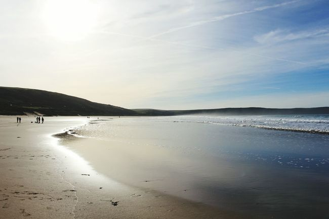 Woolacombe, Devon Beach Sea Travel Destinations Sand Outdoors Nature Scenics Landscape Water Sky Beauty In Nature Day No People Beauty In Nature Leisure Activity Waterfront Motion Waves Rolling In Tranquility Waves, Ocean, Nature