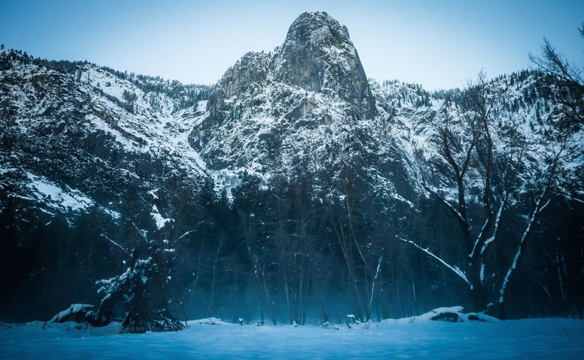Yosemite, I really enjoyed my time in this beautiful place. Winter Cold Temperature Snow Season  Tranquil Scene Weather Scenics Beauty In Nature Nature Tranquility Non-urban Scene Tree Mountain Majestic Remote Day Mountain Range Outdoors Solitude Sky Yosemite National Park Rocky