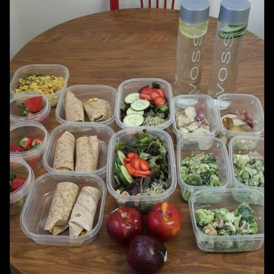 Veganmealprep Broccoli salad, Strawberry Cucumber salad, wraps, plums, strawberries, & Voss Water with Cucumber/Lemon. Organic Alkaline PhBalance Vegan Veganfoodshare Vegansofig Whatveganseat Vegangirl VEGANLIFE Mealprep Mealprepgang Fitspiration Fitmom Fitspo Farmacy Eatlikeyougiveadamn Eatclean Eatyourcolors Eatyourgreens EatTheRainbow Plantbased Healwithfood Healthyfoodporn Veganmealshare