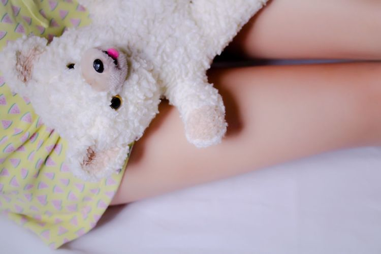 lap or bear pillow My Unique Style Human Leg Close-up People Bear Stuffed Toy Fafa Teddy Bear Human Body Part Relaxing Day ThatsMe